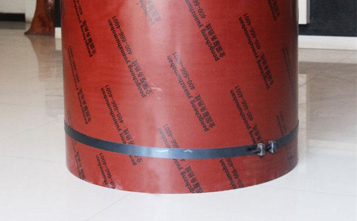 圆柱定型模板加固