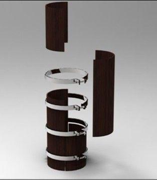 圆形柱子模具错位安装