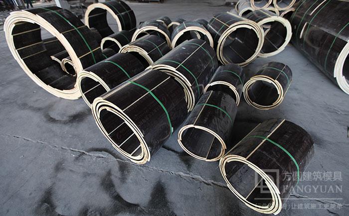 多直径规格尺的圆柱木模板
