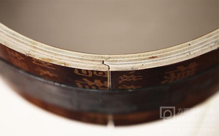 圆柱木模板凹凸槽接口
