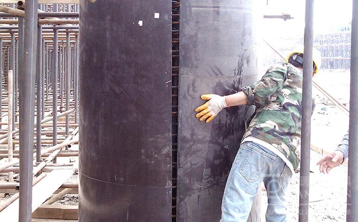 圆柱木模板可人工搬动施工