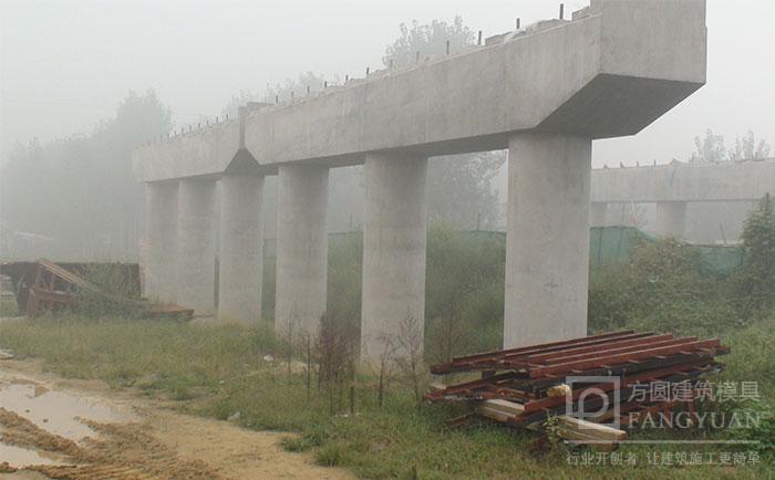 桥梁墩柱圆模板清水脱模