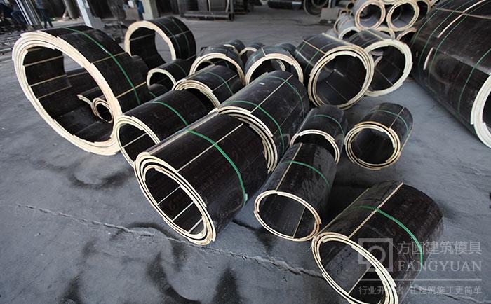 多规格尺寸的木制圆柱模板