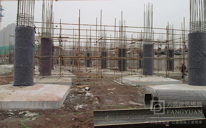木制圆柱子模板拆模成型