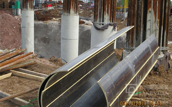 圆柱子木模板脱模清水模板成型