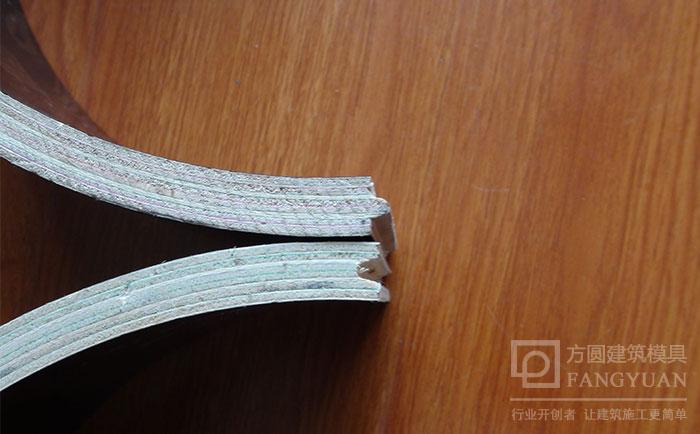 木制圆模板侧面胶合
