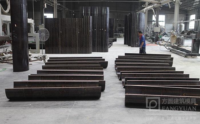 建筑圆柱木模板加工生产