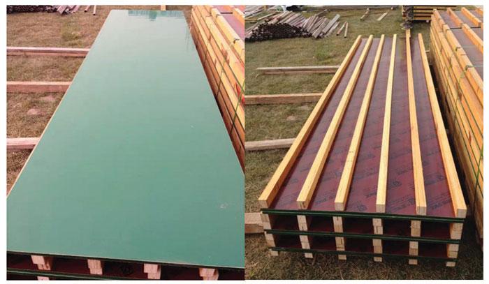 四米模板拼接整体木枋