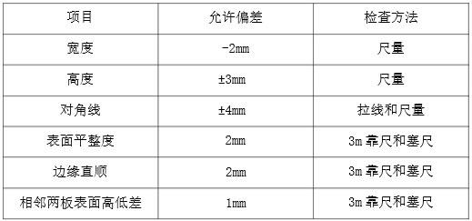 模板制作安装质量标准