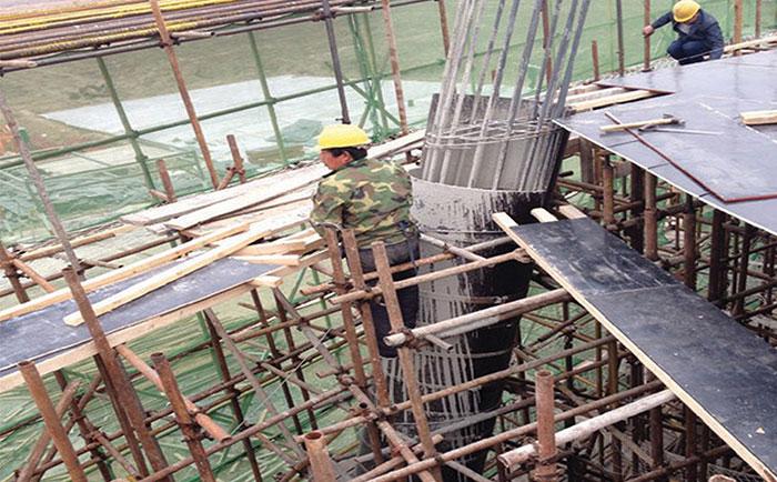 圆形木模板浇筑施工