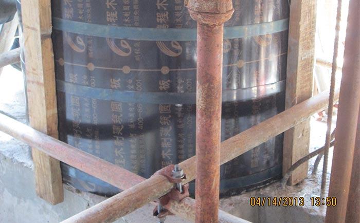 建筑圆形柱模板施工