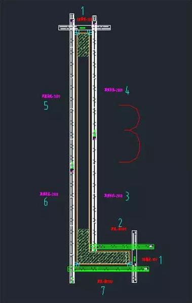 L形剪力墙加固顺序图