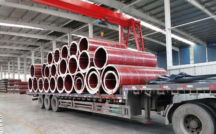 运往汉中的木制圆柱墩模板
