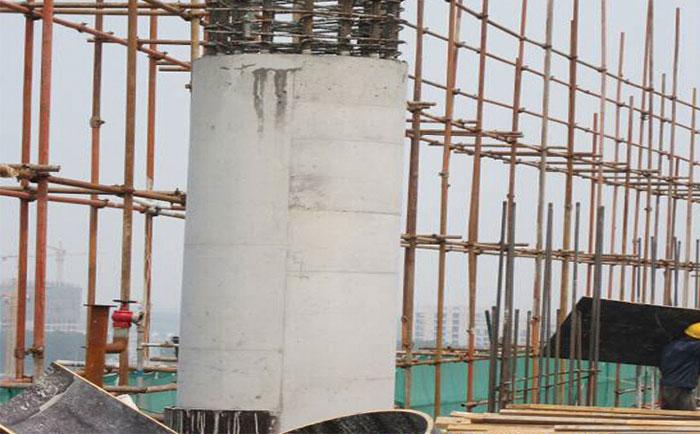 圆形柱子木模板脱模清水成型