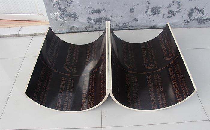 两片组成的小规格圆柱木模板