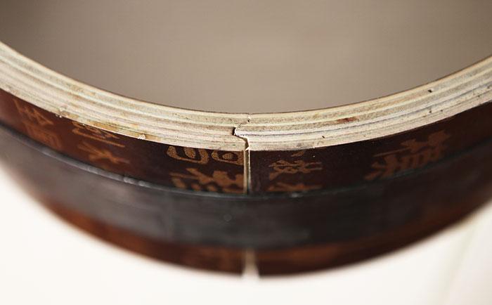 木质圆柱模板凹凸槽接口