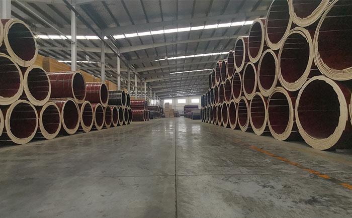 乐山定型圆柱形木模板