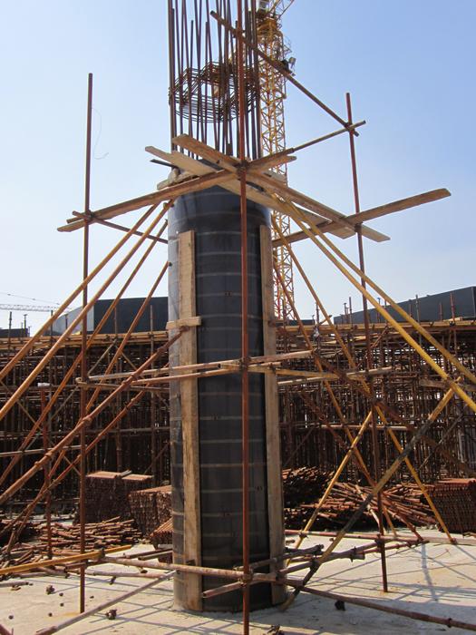 混凝土圆柱子模板支模效果图