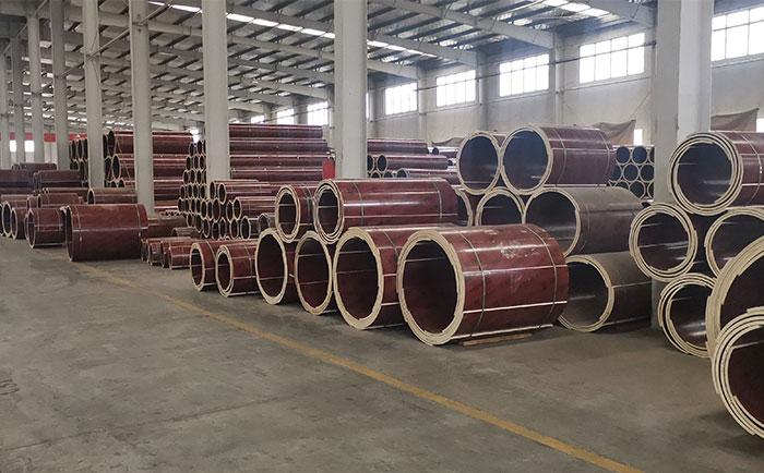 木质圆柱模板厂家仓储