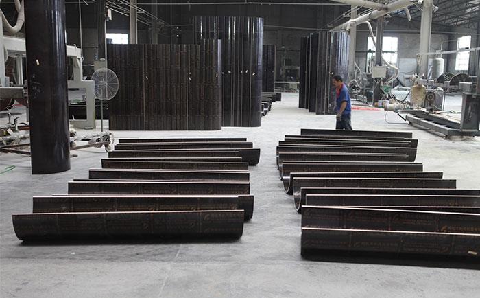混凝土圆柱木模板生产加工车间