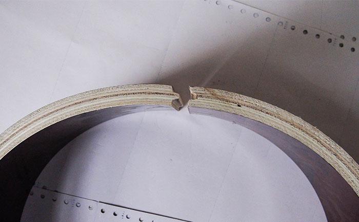 圆形木模板凹凸槽接口