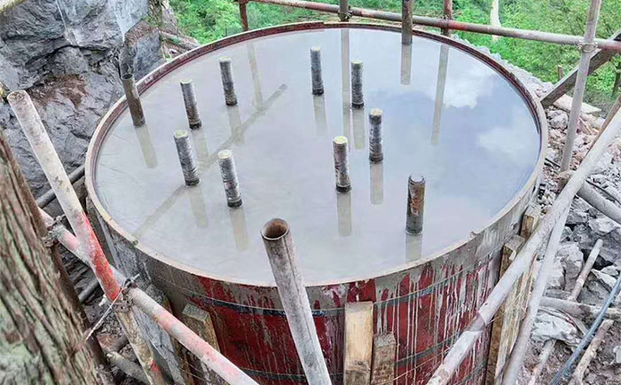 圆柱木模板应用于电力基础支模建设