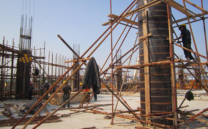 唐山工地圆柱模板施工