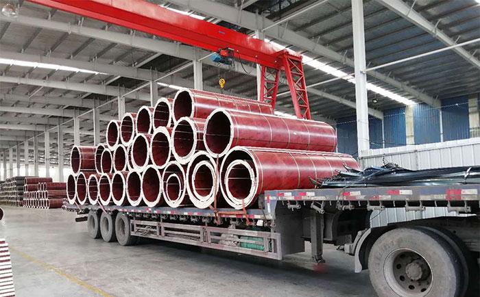 圆形柱木模板装车发货