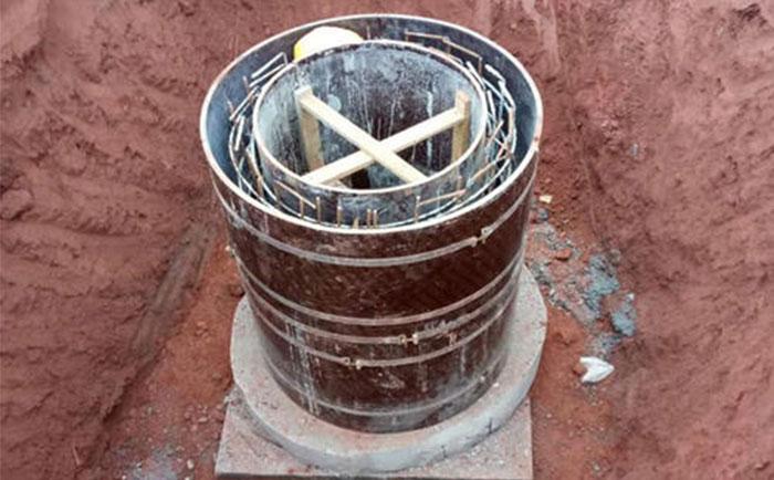 污水排名检查井圆模板