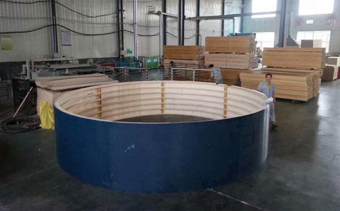 圆形定型模板应用于圆水池支模