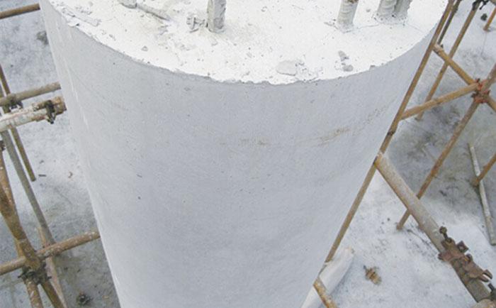 模板脱模后圆柱体清水效果