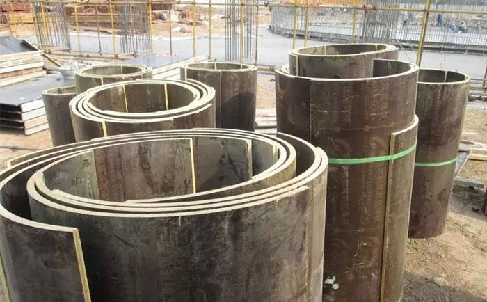 圆柱木模板拆模后存放