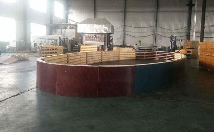 椭圆形蓄水池木模板