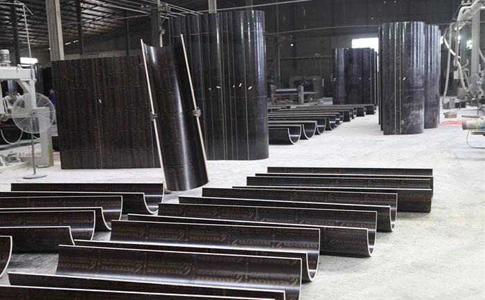 圆形柱木模板加工生产车间