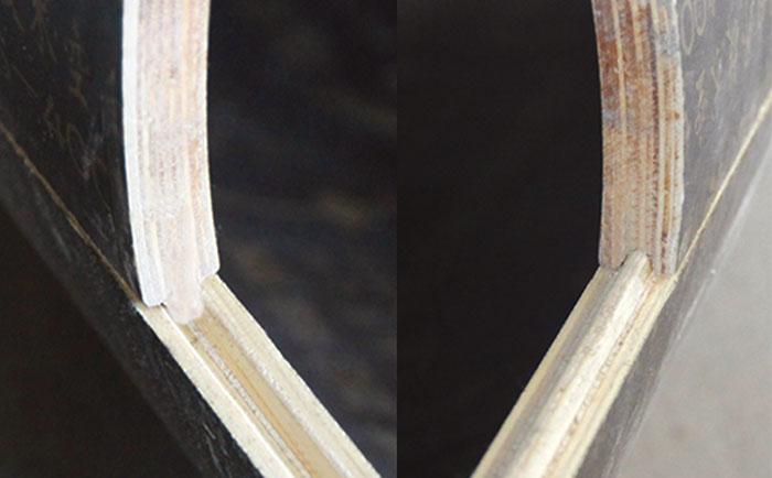 木制圆柱模板凹凸槽接口