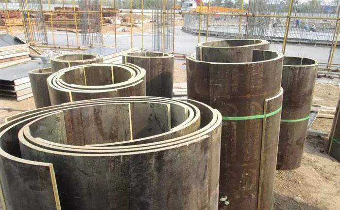 松原木质圆柱模板