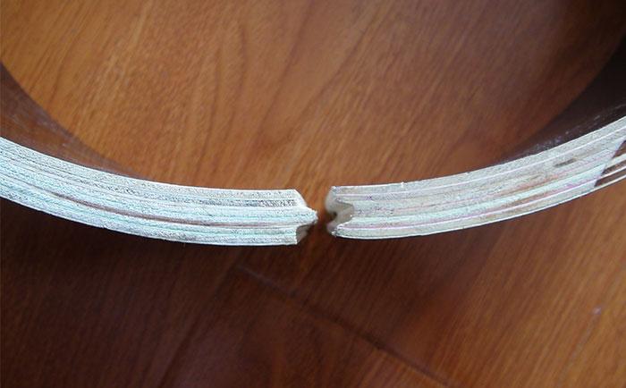 圆形柱子木模板凹凸槽接口