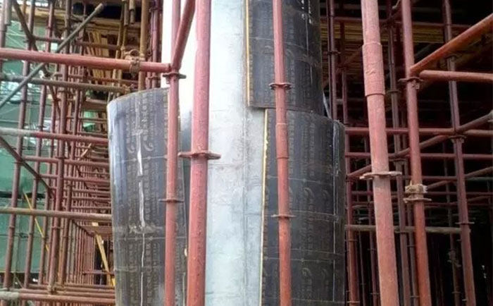 木质圆柱子模板自动脱模
