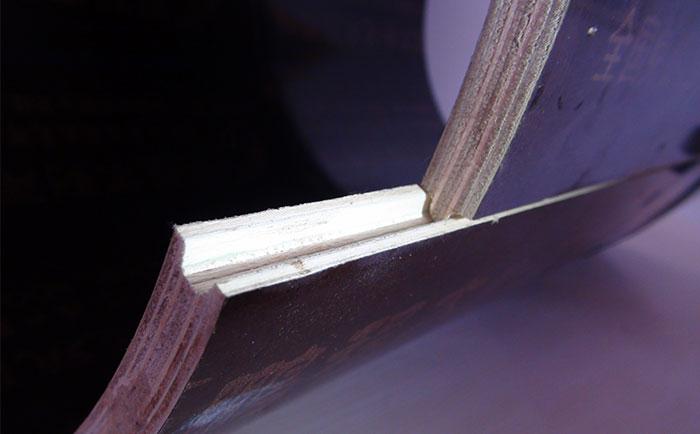 佳木斯圆柱木模板凹凸槽接口