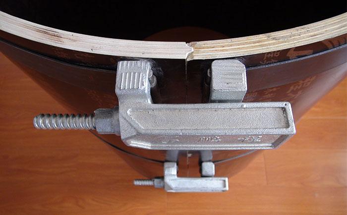 木质圆模板凹凸槽接口