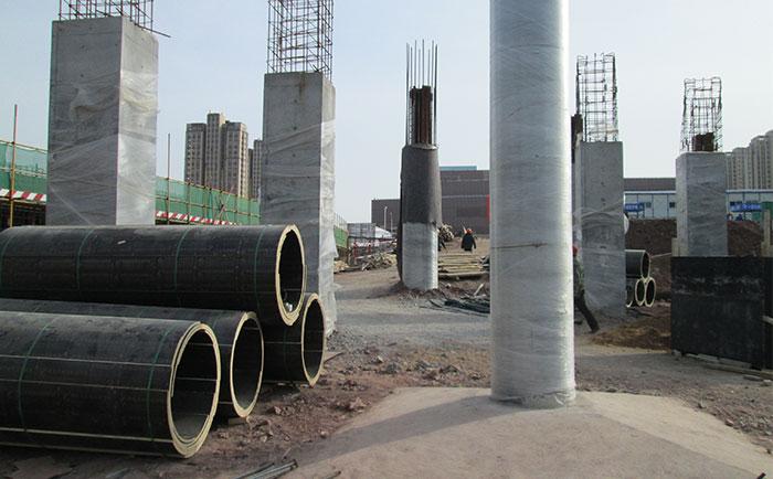 木圆柱子模板混凝土脱模成型