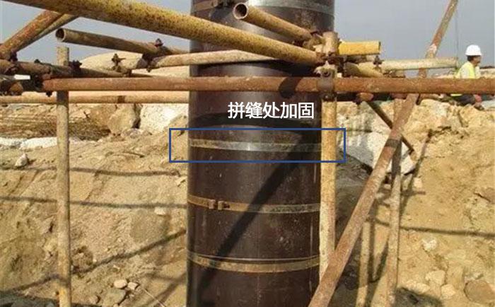 木质圆柱模板外围加固