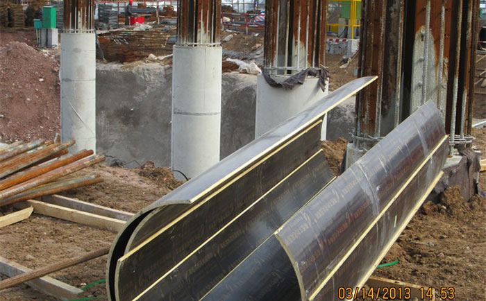长治圆形柱模板工地施工