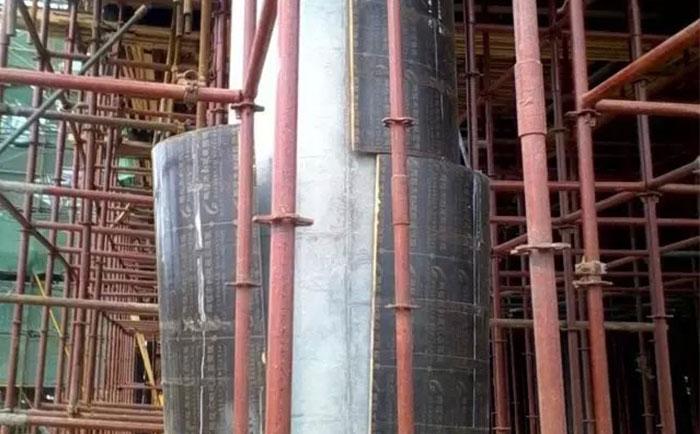 木质圆柱子模板脱模