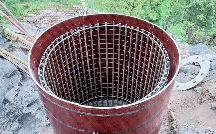 阳泉圆柱木模板工地施工