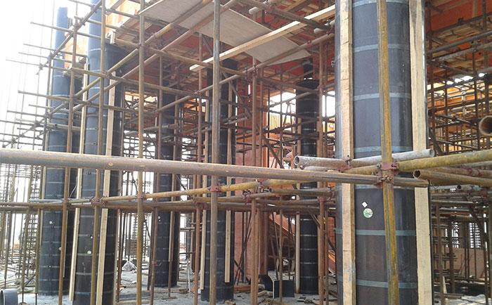 圆柱木模板用于桥梁墩柱支模