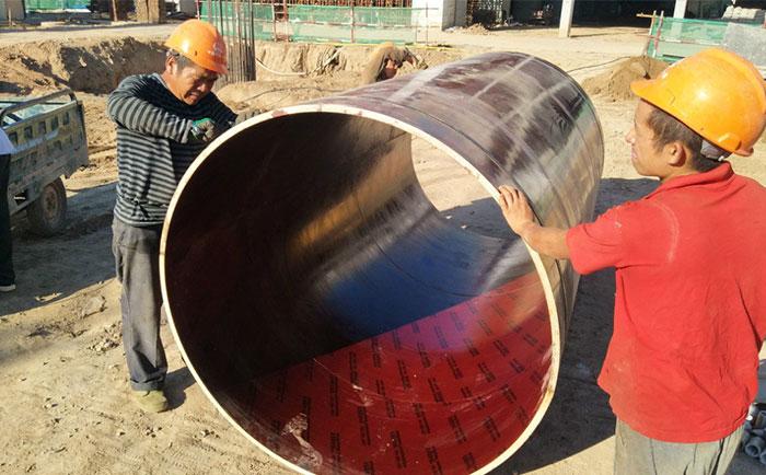 内蒙古圆柱形木模板工地施工