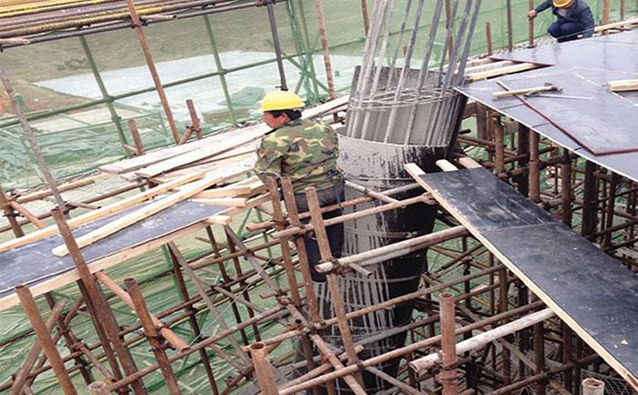 圆柱形模板现浇混凝土